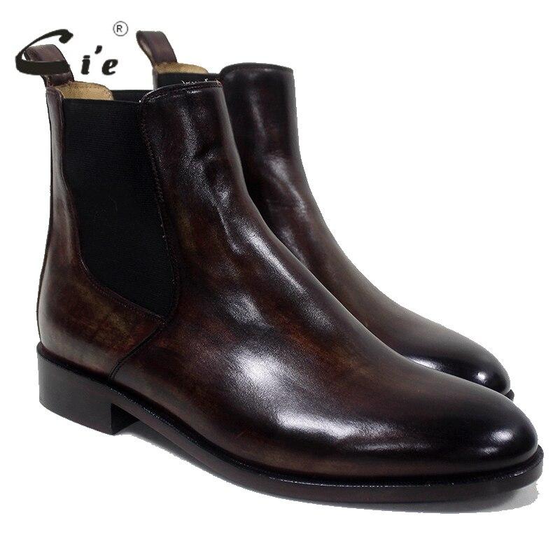 cie Chelsea-Stiefel mit runder Schuhspitze Maßgeschneiderte, - Herrenschuhe - Foto 5