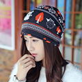 New arrival 2 Use Cap Knitted Scarf & Winter Hats for Women Letter Beanies Women Hip-hot Skullies girls Gorros women Beanies