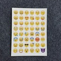 High Quality Emoji sticker 48 stickers one sheet 48 Emoji Smile face stickers for notebook, message Twitter Large Viny Instagram