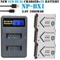 Hot 3x batería npbx1 np-bx1 np bx1 batería + cargador para sony DSC RX1 RX100 AS100V M3 M2 HX50 HX300 HX400 HX60 GWP88 AS15 WX350