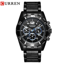 Часы Сurren Для мужчин Топ Элитный бренд военные спортивные часы Для мужчин кварцевые часы мужской Повседневное Бизнес Черный Часы Relogio Masculino