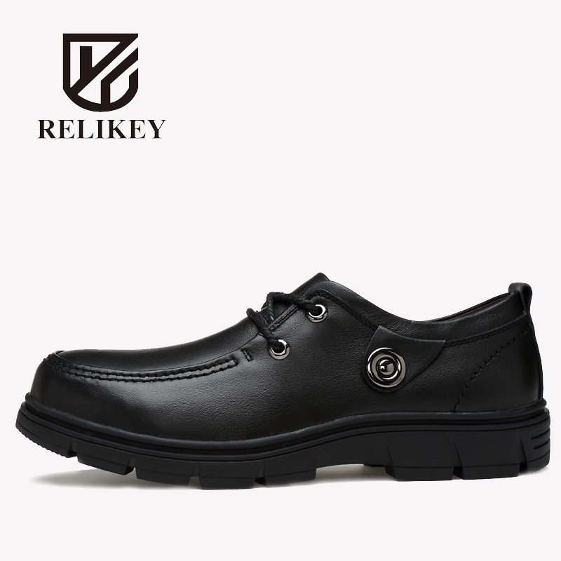 RELIKEY Brand Men Classics Boots Handmade Genuine Leather Autumn New Arrival Ankle Boots Big Size High Quality Causal Shoes Men