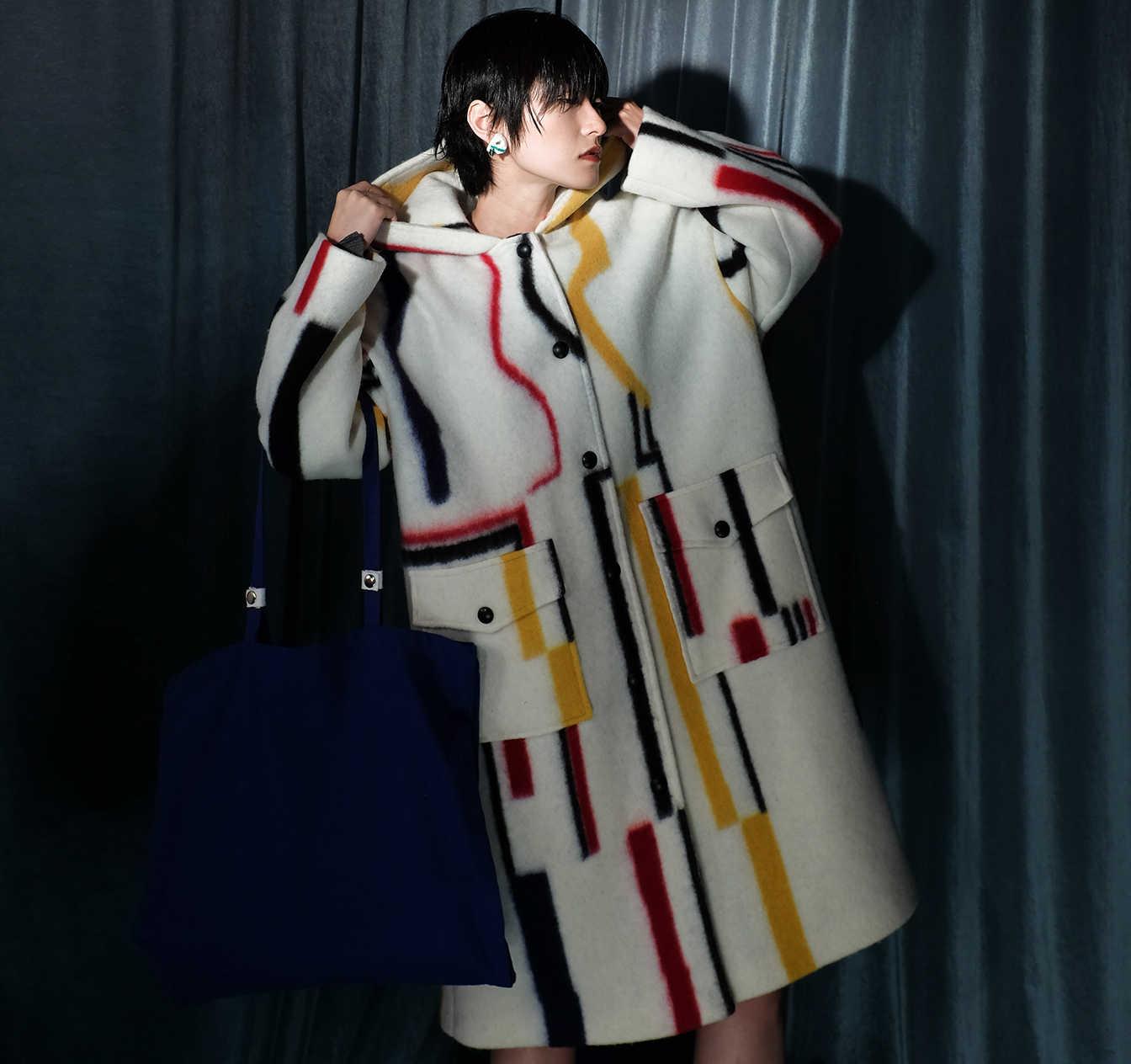 2018 зимняя Дизайнерская верхняя одежда Европа High Street Модные теплые с  капюшоном овечья шерсть высокого класса f89418c3a7c