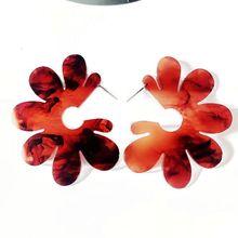 ФОТО free shipping sweet flower brown gray resin cute elegant hot selling earring