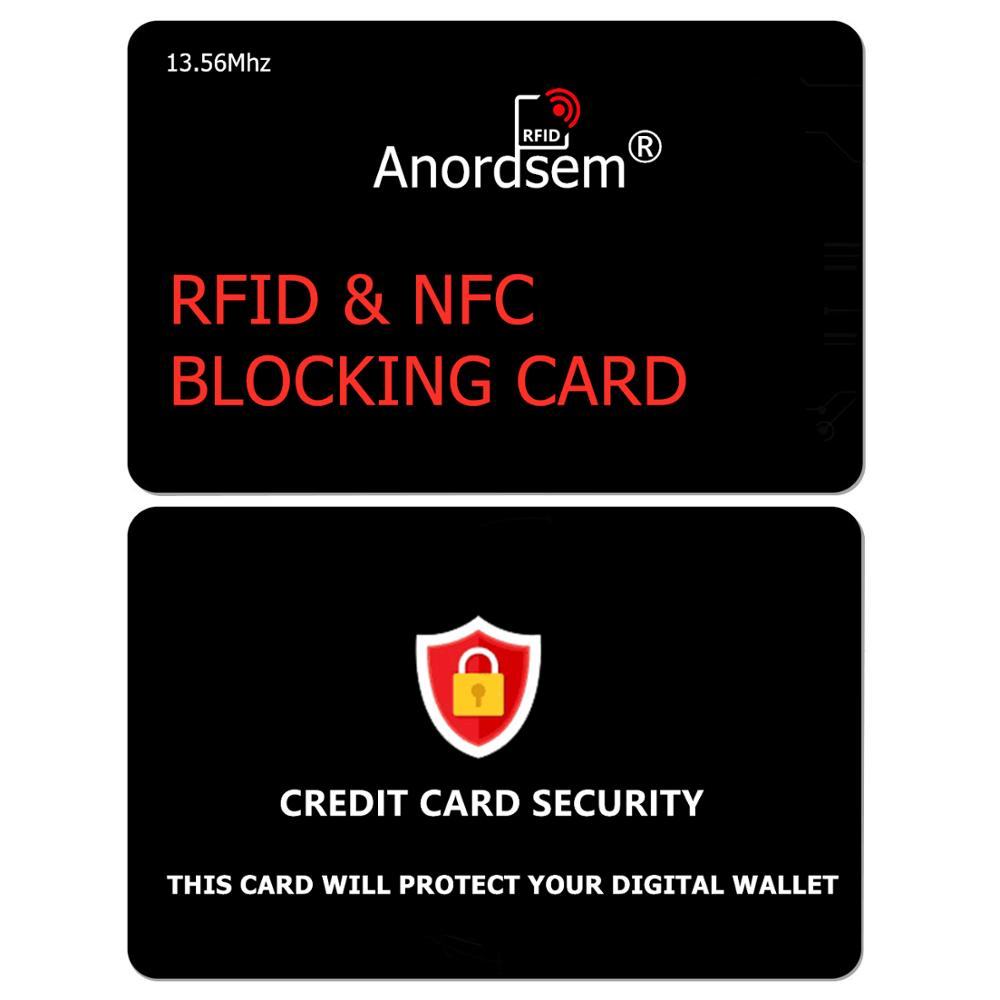 RFID Blocking Card, Credit Card Protector NFC Bank Debit Wallet Shield Blocker Identity Theft Prevention For Travel Security
