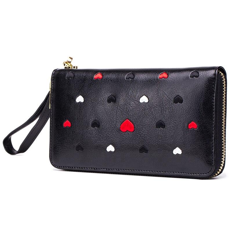 COMFORSKIN Brand New Arrivals Lovely Sweet Heart Long Stylish Women Wallets Multi-Card Bit Large Capacity Ladies Clutch Purses