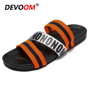 Hot Sale New Air Mesh Man Slippers Pantoffels Mens Slides Lightweight Badslippers Flip Flop Men Designer Flip Flops Summer Sandals Men 44