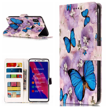 Varnish 3D Relief Flip Leather Wallet Phone Silicone Soft Case Cover Coque Fundas Shell for xiaomi Redmi 4X 5 Plus Note 5 Pro