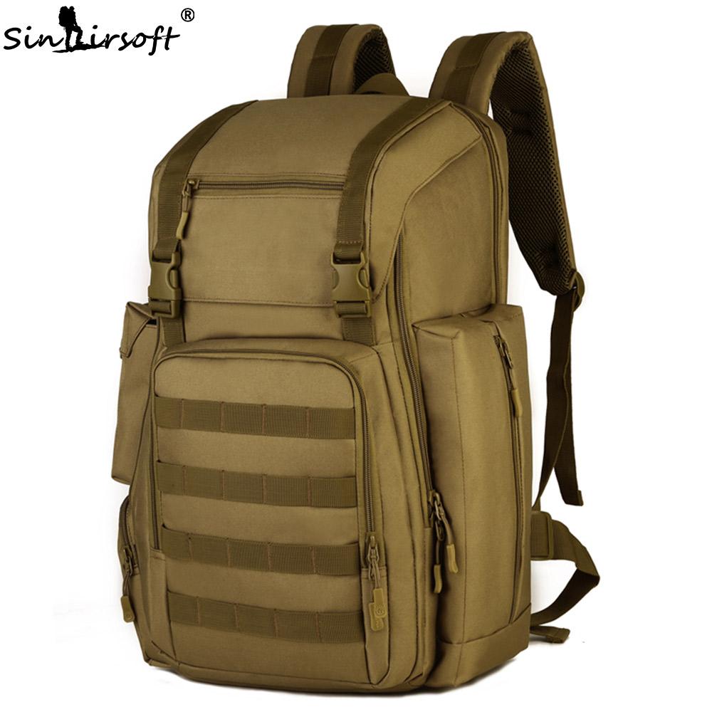 SINAIRSOFT Military Tactical Backpack Waterproof 40L Nylon 17 inches tablet Rucksack Molle System Shoes bag for travel LY2020 sinairsoft military tactical backpack 35l rucksack 14 inches laptop fishing molle system backpack trekking bag gear ly0020