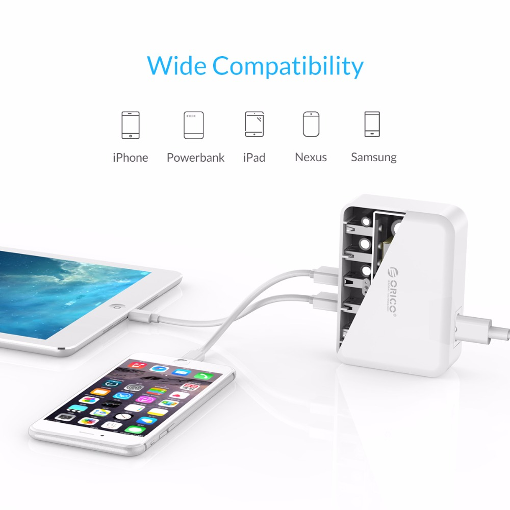 ORICO USB Charger 8A 40W Universal 5 Port Charger EU US UK AU Plug Mobile Phone Adapter for iPhone 8 Samsung s9 Xiaomi Galaxy S7