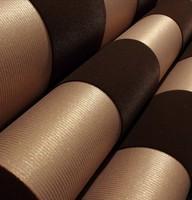 Modern Striped Velvet Flocked Wallpaper Roll Background Dark Gold Brown papel de parede home decor