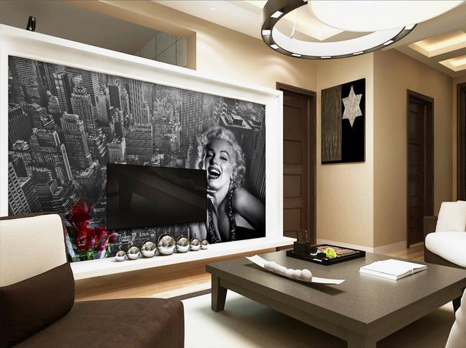3d Foto Papel De Parede Personalizado Mural Quarto Marilyn Monroe Pintura  Cor De Rosa Não  Part 71