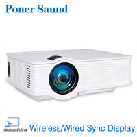 Poner Saund GP9 Wireless Mini Projector LED Projetor Android Wired Sync Display Home Theater Support Full HD Proyector Hdmi WIFI