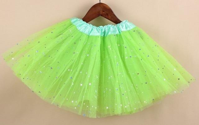 0a47721c7 € 5.46 |Chica estrella brillo danza verde tutú falda lentejuelas con 3  capas tul tutú niño niña chifón pettiskrit en Faldas de Ropa de mujer en ...