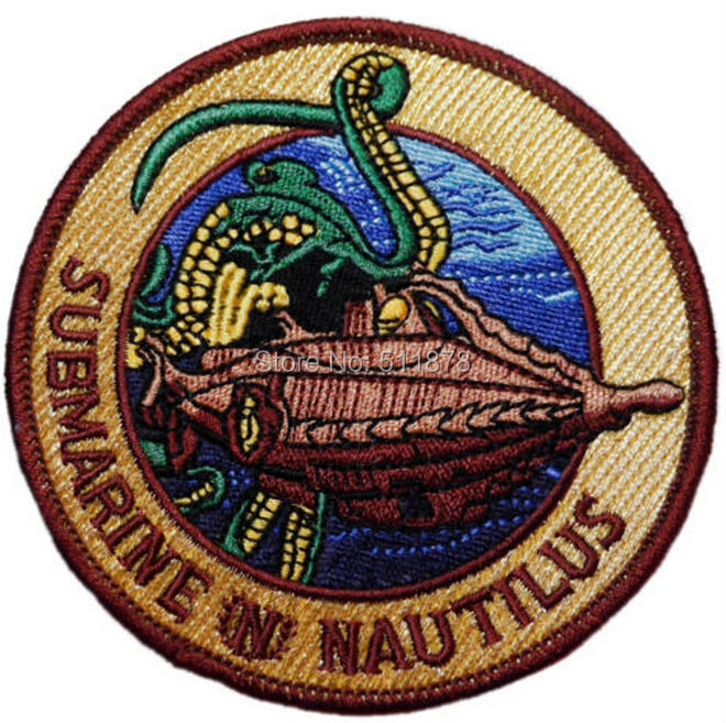 20000 Leagues Under the Sea SUBMARINE NAUTILUS Movie TV Series Costume Embroidered iron on patch Tshirt
