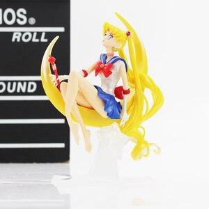 Image 4 - Figurine de dessin animé marin lune Tsukino en PVC 15cm/16cm, décoration de gâteau avec ailes, modèle de poupée, cadeaux pour filles