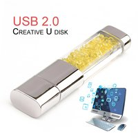 5pcs Orange Color USB2.0 Crystal U Disk Waterproof 32G USB Portable Pen Drive Mini USB Stick Flash Drive For Computer Laptop