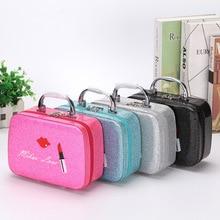 Neceser Women PVC Makeup bag Zipper Lipstick Cosmetic Bag Case Travel Make Up Toiletry Box Organizer Storage Box Mini Suitcase