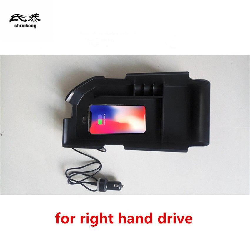 1 lot d'accoudoir Central de charge sans fil pour téléphone portable 2017 2018 Toyota camry MK8 accessoires de voiture à conduite à droite