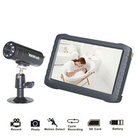 7 TFT Digital 2 4G 5 8G Wireless Camera Audio Baby Video Monitor 8CH DVR Security