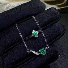 6fb68c58296f SHILOVEM 925 Plata de Ley anillos de Esmeralda Natural colgantes enviar collar  joyería fina boda mujeres nuevo regalo jctz463.53.