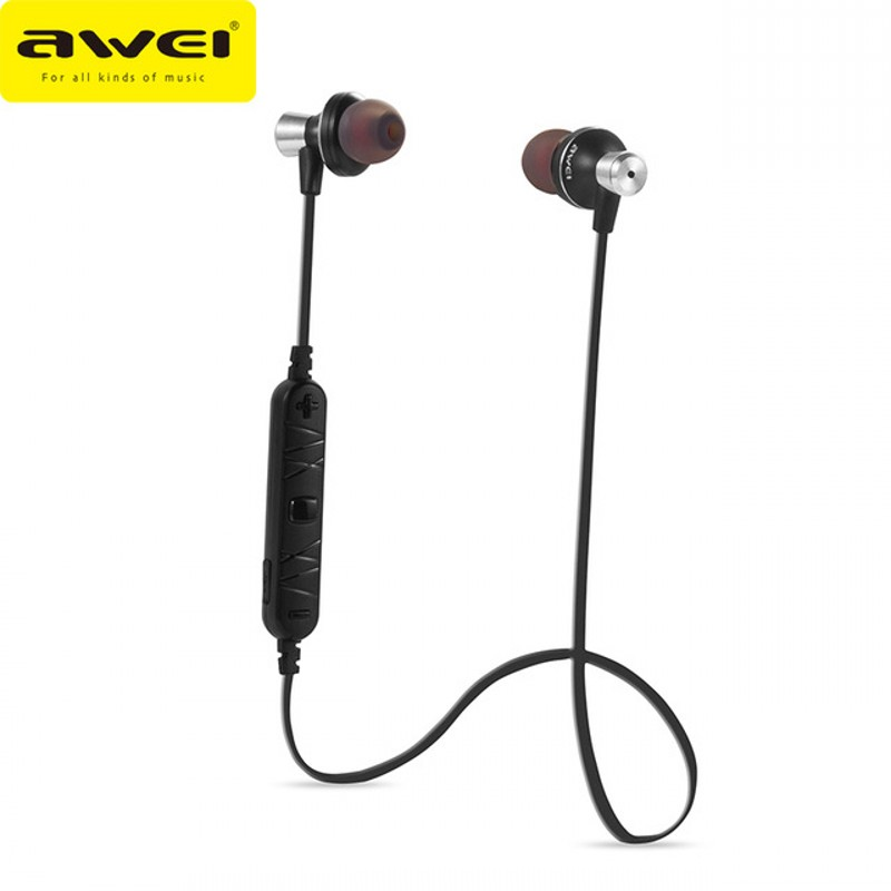 Awei Bluetooth Earphones Wireless sports Headphones Stereo Music Headset Handsfree Phone Earbuds Fone de ouvido With Mic A860BL