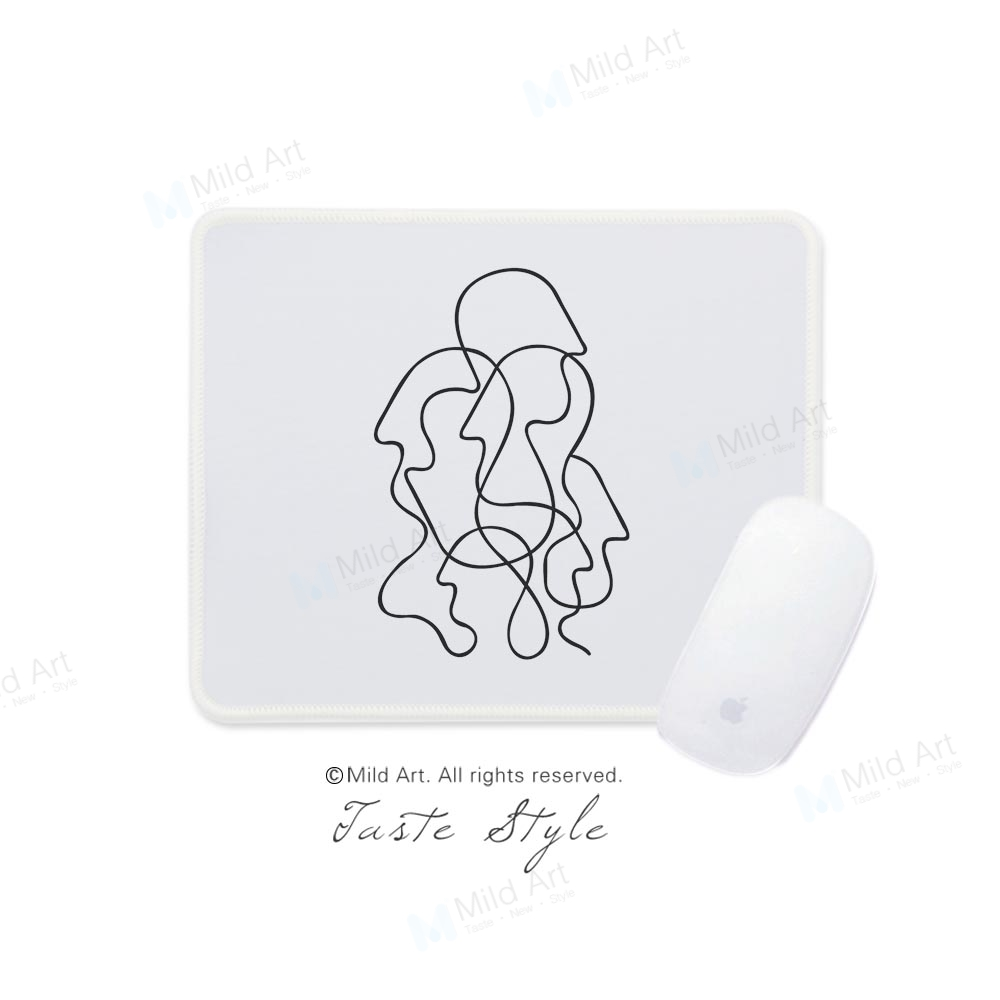 Nordic Minimalist Modern Abstract Picasso Figure Black White Art Print Creative Gifts Game Laptop Gaming Computer Mouse Pad Mats