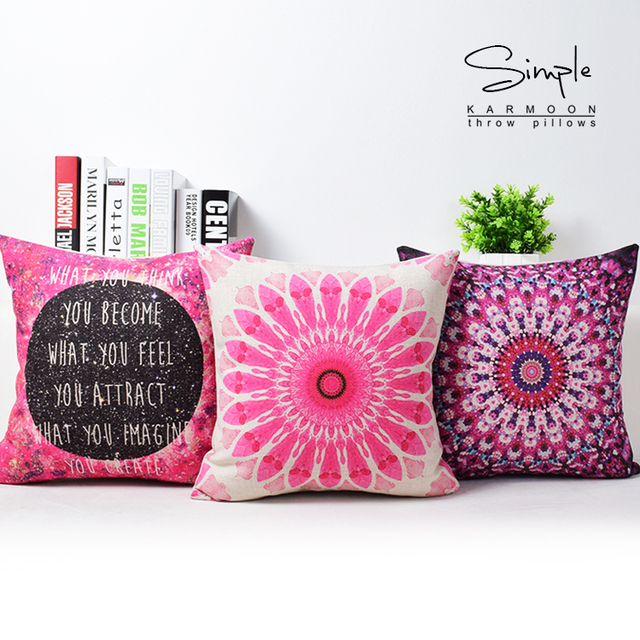 Fabulous Nebula Galaxy Cushion Cover Pink Purple Floral Decorative Throw  Pillow Case Light Echo Quote Linen