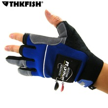 THKFISH Durable Non-Slip Fishing Gloves With Magnet 3 Cut Finger Gloves Magnetic Outdoor Hunting Fishing Gloves For Men