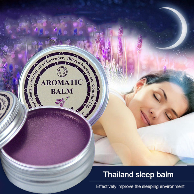 Improve Sleep Balm Sleepless Cream Soothe Mood Lavender Aromatic Balm Insomnia Relax Aromatic Balm Fragrances & Deodorants TSLM1