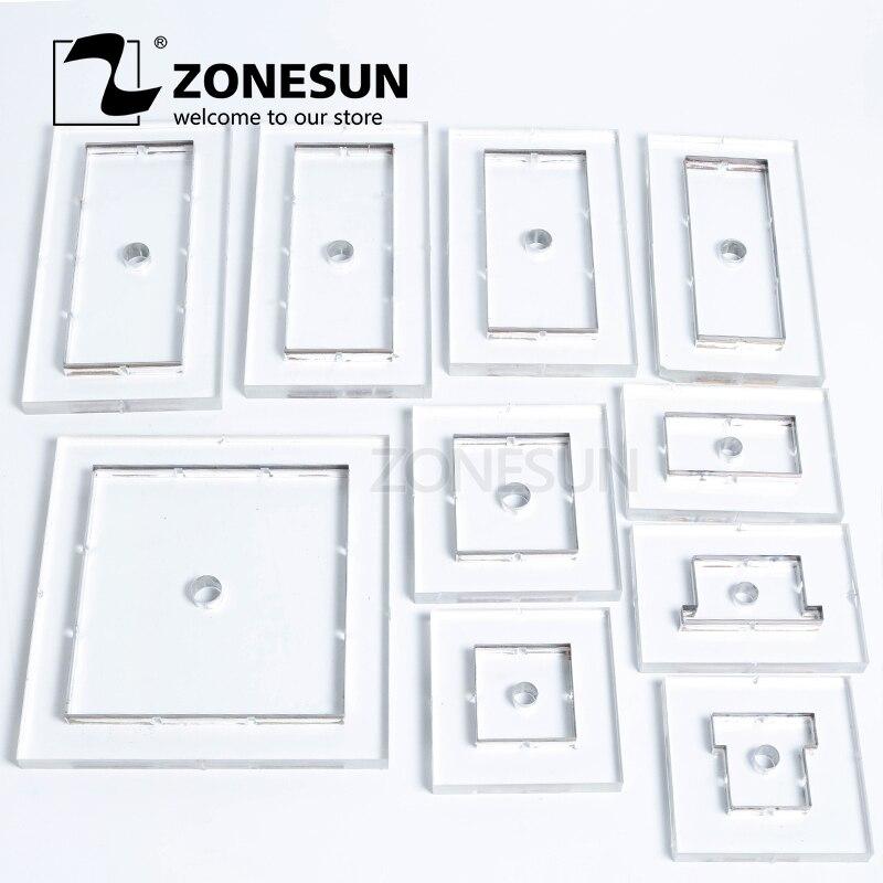 ZONESUN Customized leather punch Steel Blade flower wedding PVC EVA sheet cutter mold DIY Watch belt