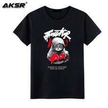 AKSR 2019 Summer Men's New T-shirt  Streetwear  T Shirt  Personalized DIY Pattern Design Cotton breathable t-shirt недорого