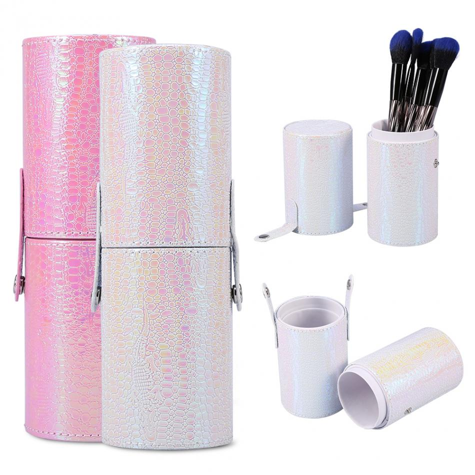 Makeup Brushes Cosmetics Brushes Portable Empty Holder Storage Case Portable Travel Nail Art Pen Cup Container Bag Make Up Brush hot pro makeup brushes kits flower leather cup holder comestic brushes empty case 4 color free shipping