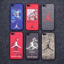 d9a57db3ca19 Mate de silicona 23 Jordan caso para iPhone X XS X Max 5S iPhone 6 s Funda  de TPU suave rojo blanco aire cubierta Coque iPhone6 .