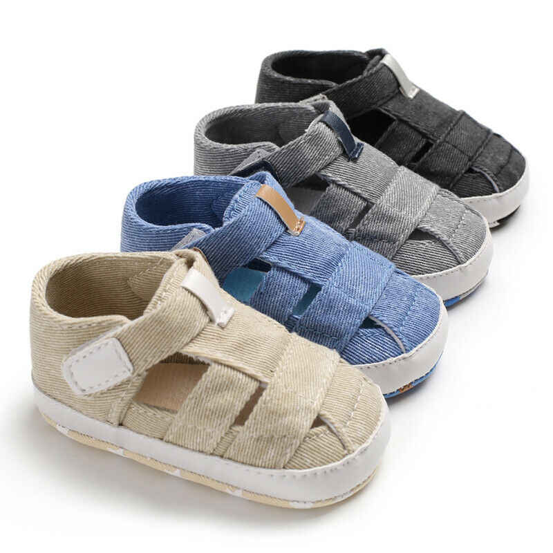 De moda sandalias de bebé niño infantil hueco cuna suave suela zapatos de lona zapatos de las niñas niños cuna suave Prewalker sandalias zuecos