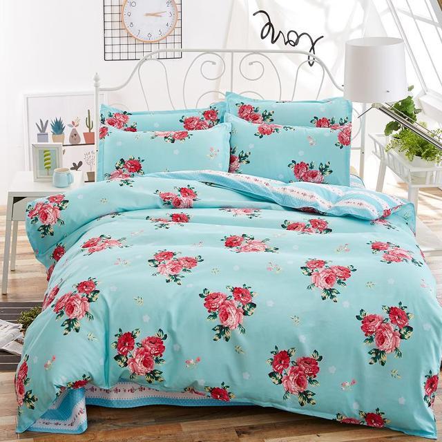 Birds & Blooms bedding set 2017 flower bed linens 4pcs/set 5 size duvet cover set Pastoral bed set kids / Adult bedding bedcloth