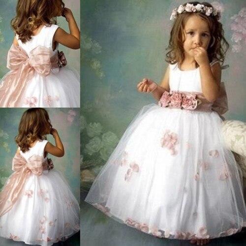 Princesa balón vestido pequeños vestidos niña para bodas 2015 ...