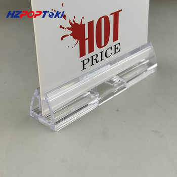 Plastic POP Advertising Poster Paper Card Play Show Bill Display Stand Holder with Magnet on Base for Store Shelf Rack 10pcs - DISCOUNT ITEM  15 OFF Education & Office Supplies