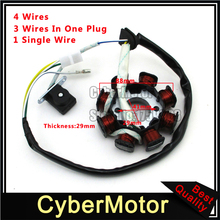8 Coil Poles 4 Wire DC Magneto Stator For Chinese GY6 50cc Engine Moped Scooter_220x220 online get cheap gy6 stator wiring aliexpress com alibaba group gy6 stator wiring at virtualis.co