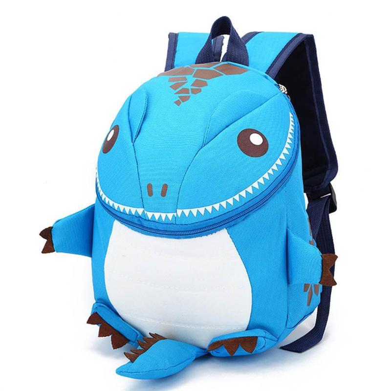 3D Dinosaur School Bag Cute Nylon Animals Backpack for Kids Kawaii Zipper Children Small Bags Casual Boys Backpacks 5 Colors Y3 unisex school bag for children waterproof nylon reflective tape backpack spine protected design