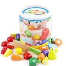FoPcc madera frutas verduras de corte de juguete de desarrollo temprano y juguete educativo para regalo de bebé para el bebé