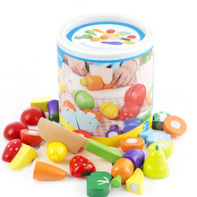 FoPcc деревянные фрукты овощи режущая игрушка раннее развитие и образование игрушка для ребенка подарок для ребенка