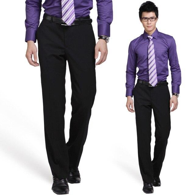 Марка Одежды Мужчины Платье Брюки Мужчины Костюм Брюки Классические Брюки Slim Fit Узкие Брюки Мужчины Брюки Гладкие Брюки Pantalon Homme