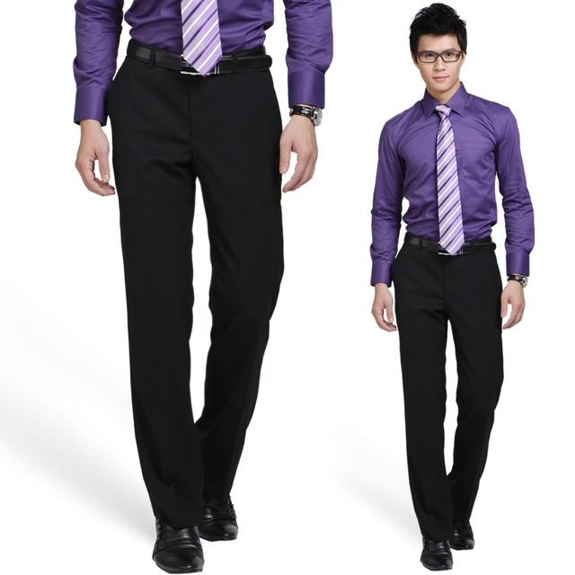 Marca de Ropa de Los Hombres Pantalones de Vestir de Los Hombres Pantalones de Traje Pantalones Formales Slim Fit Pantalones Flacos de Los Hombres Suaves Pantalones Pantalones Pantalon Homme
