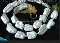 YH@CS >SUPERB RARE BIG 20MM WHITE natural cultured pearls necklace
