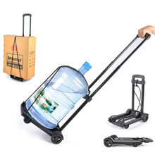 673b8db16 Mini Portable Luggage Cart Folding Rubber Wheel ABS Engineer Plastic Metal  Small Shipping Trolley Carts Travel Accessories 341