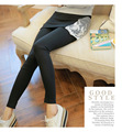 Maternity legging trousers lace patchwork slim pants for pregnant women spring and autumn wear 2015 fashion design
