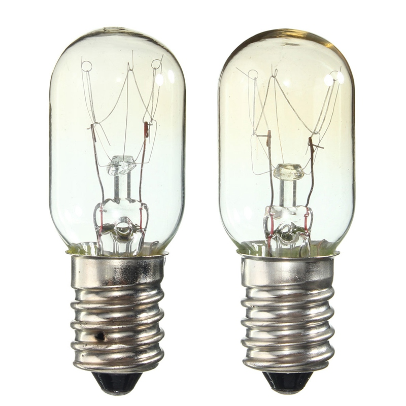 2 Pieces AC 220-230V Edison Bulb E14 15W Refrigerator Fridge Light Bulb Tungsten Filament Lamp Bulbs Warm White Ligthing