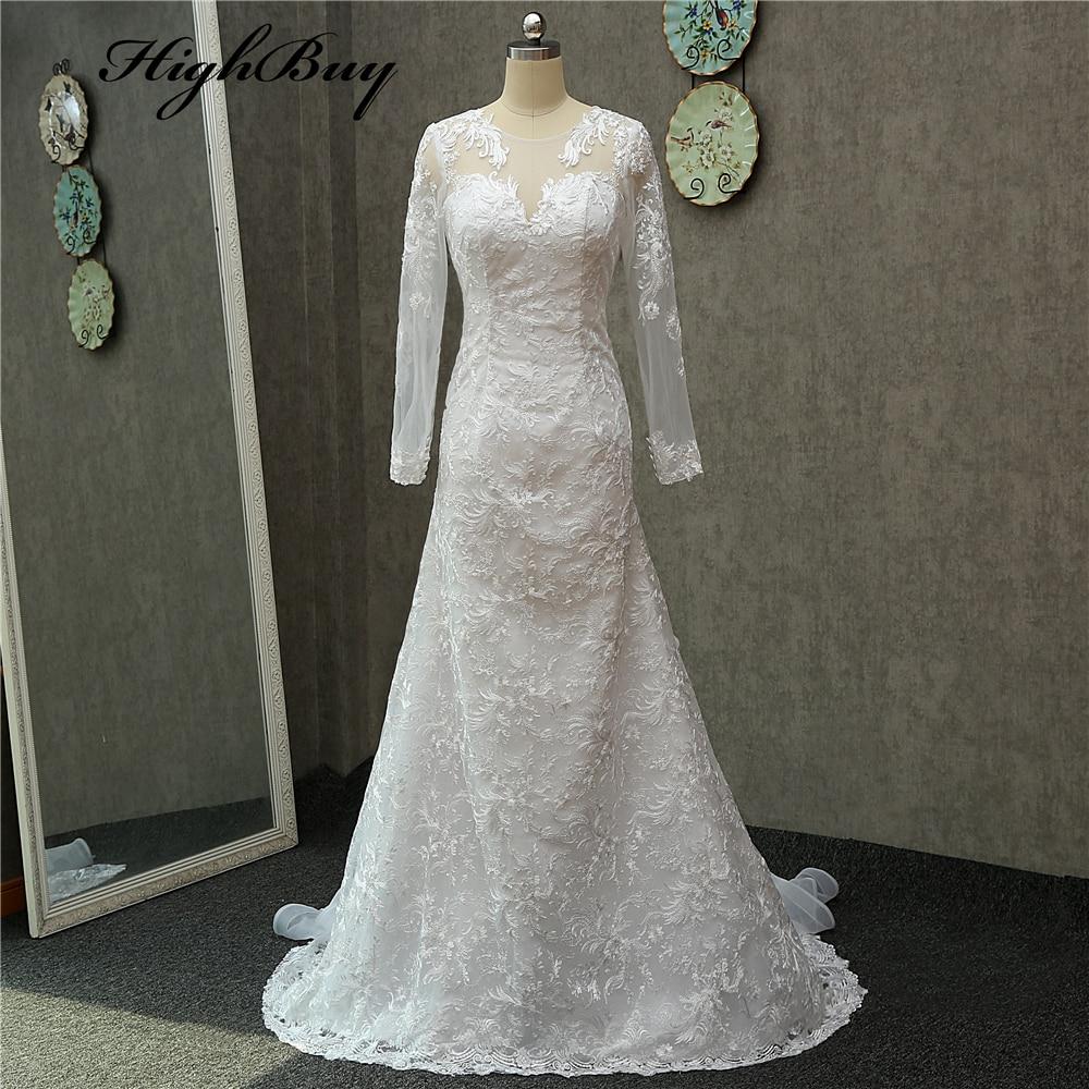 Highbuy sexy mermaid wedding dresses 2017 romantic for Long sleeve mermaid wedding dresses 2017