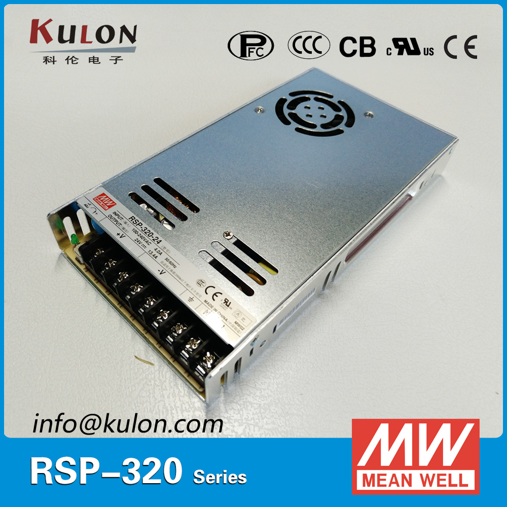 Original MEAN WELL RSP 320 5 300W 60A 5V meanwell Power Supply with PFC function
